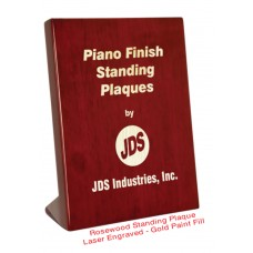 Piano Finish Standing Plaque - Lasered On Board